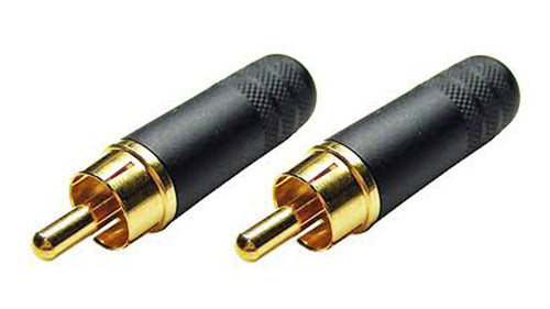 (2 Pack) Switchcraft 3502ABAU   Cable End RCA Male Black/Gold w/Solder Terminals