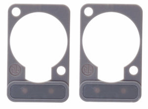 2 Pack Neutrik DSS-8-GREY  D-Series Lettering ID Plate for XLR Panel Connectors