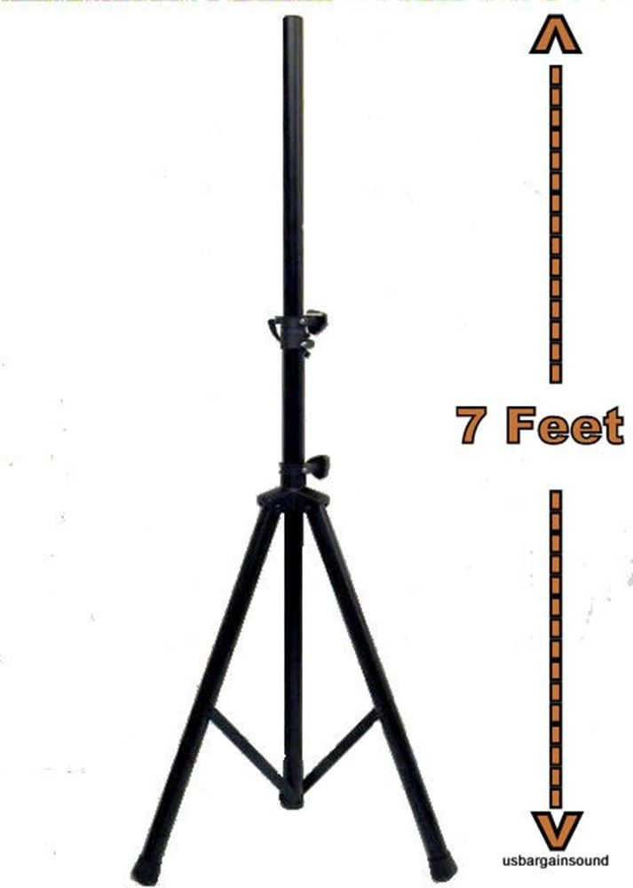 Accuracy Heavy Duty Tripod Pro Audio DJ PA Pro Speaker Stand. Extend 7 Feet.