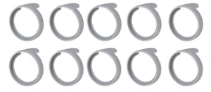 "(10 Pack)  NEUTRIK PXR-8  Grey Colored ID Rings for PX Series 1/4""  Connectors"