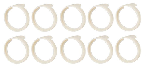 (10 Pack)  NEUTRIK PXR-9  White Colored ID Rings for PX Series 1/4