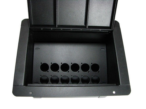 ProCraft Pro Audio Recessed Stage Floor Pocket Box 12 D Mount Openings