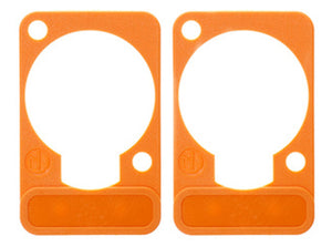 2 Pack Neutrik DSS-3-ORANGE  D-Series Lettering ID Plate for XLR Panel Connector
