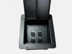 Recessed Floor Pocket Stage Box Loaded w/ 4 NCJ6FI-S Neutrik combo 1/4 / XLR