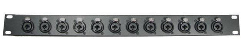 1U Procraft  Rack Panel 12 Ch Combo XLR 1/4