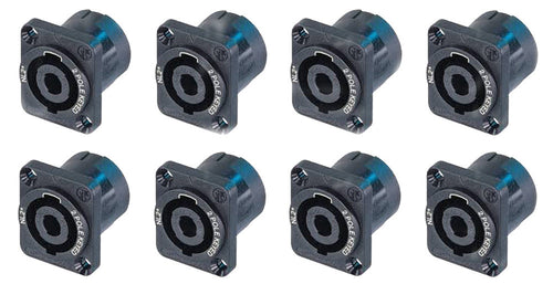 (8) Genuine Neutrik NL2MP 2 Pole Chassis Panel Locking SpeakOn Speaker Connector
