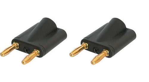 (2 Pack) Neutrik Rean NYS508-B Dual Black Banana Plug 6mm to 10mm(.39