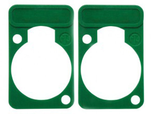 2 Pack Neutrik DSS-5-GREEN  D-Series Lettering ID Plate for XLR Panel Connectors