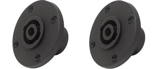 2 PC-TSC010 4-Pin Round Speakon Male Panel Locking Speaker Connector NL4MPR sim.