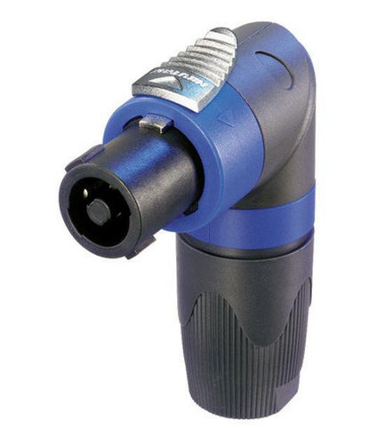 Neutrik NL4FRX Locking four-pole High-Load Speakon Right Angle Cable End.