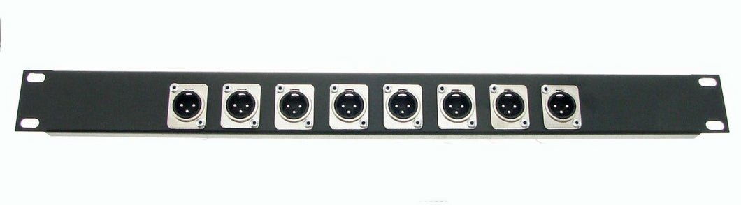 1U Procraft Feed Thru Rack Panel 8 Channels,Any Configurations of Pass Through