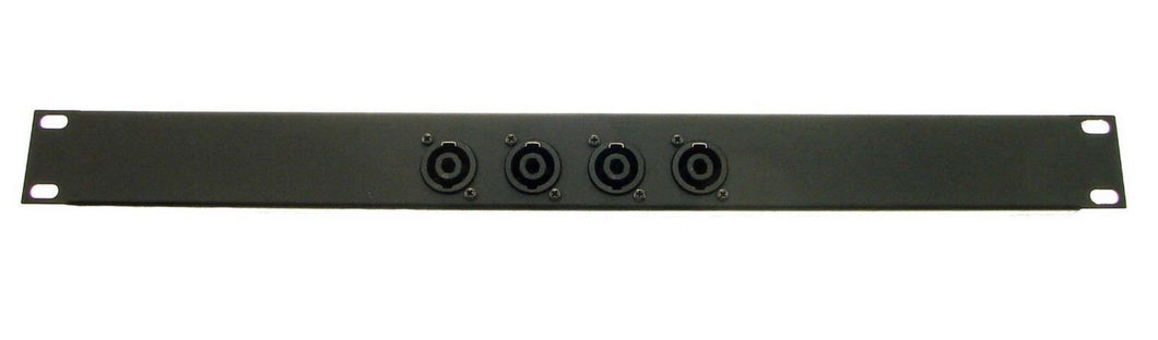 1U Procraft Feed Thru Rack Panel 4 Channels,Any Configurations of Pass Throughs