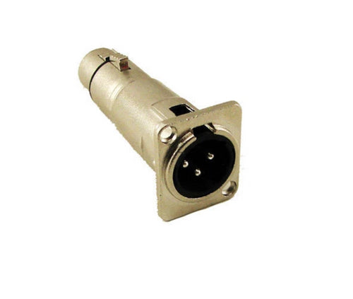 ProCraft SVP577-1 3 Pin XLR Male - Female Feed/Pass Thru Solderless Adapter Jack