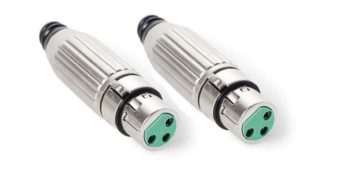 2 Pack Genuine Switchcraft AAA3FZ 3 Pin XLR Mic Female Connector, Cable Mount