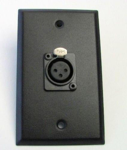NEW ProCraft Black Stainless Steel Wall Plate Loaded W/ 1 Female XLR Mic Input