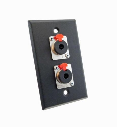 NEW ProCraft Black Stainless Steel Wall Plate Loaded W/ 2 Locking 1/4
