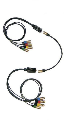 *2 Digital Snakes Converts DMX - Cat5  Includes (4) 3 Pin Female (4) 3 Pin Male