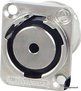 Genuine Switchcraft EH35MMSSC 1/8' (3.5mm) Chassis Panel D-Mount Connector