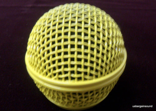 ProCraft Yellow Replacement Microphone Grille Fits Shure SM58, SV100 & Similar