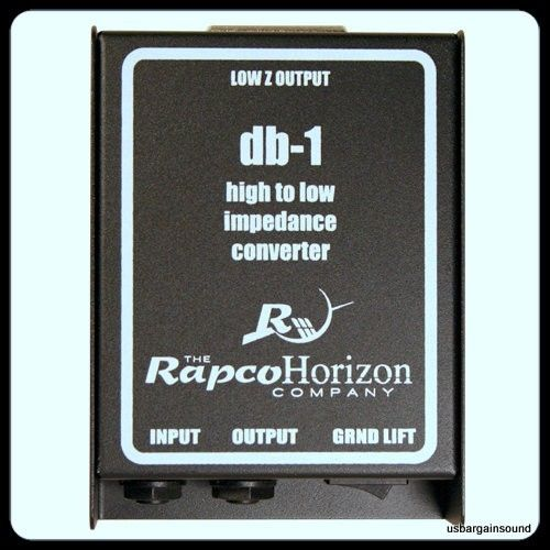 RAPCO HORIZON (DB-1)   Direct Box (High to Low Signal Conversion) 1/4