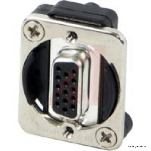Switchcraft EHHD15FF 15-Pin HD D-sub Connector Female to Female Nickel Housing