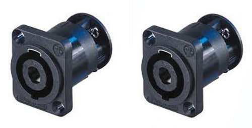 2 Neutrik SpeakOn NL4MP-ST 4-Pin Locking Speaker Panel Mount w/ Screw Terminals