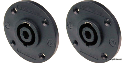 2 Neutrik NL4MPR 4-Pin Round Speakon Male Panel 4 Pole Locking Speaker Connector