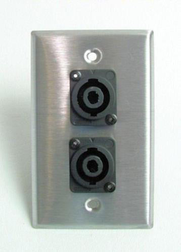 ProCraft Stainless Steel Wall Plate W/ 2 Speakon Speaker Input Channels