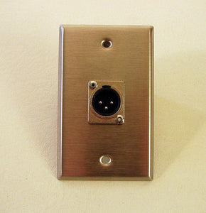 New ProCraft Stainless Steel Wall Plate - Loaded W/ One Male XLR    SPL-1XM-SS