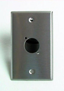 "Genuine NEW ProCraft Stainless Steel Wall Plate PrePunched for 1 ""D"" XLR."