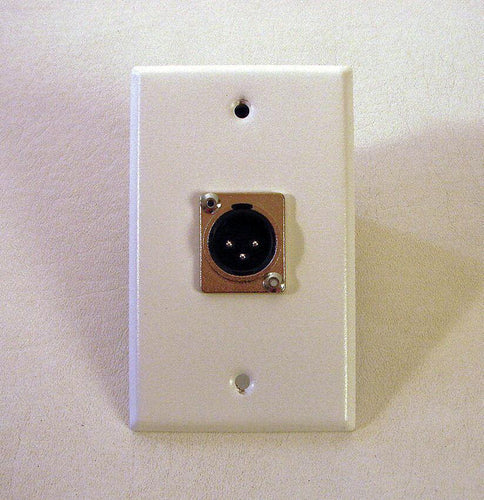 ProCraft Stainless Steel White Wall Plate- One Male XLR Mic connector SPL-1XM-WH