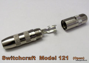 "12 -  Switchcraft 121 1/4"" 2-Conductor 2 Pole Female Cable Mount Extension Jack"