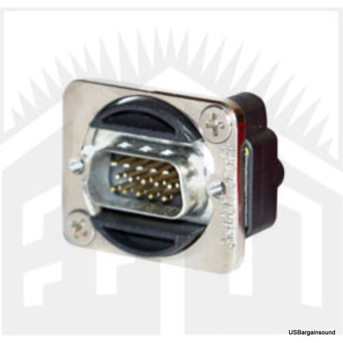 Switchcraft EHHD15MM 15-Pin HD D-sub Connector, Feed Thru Male to Male