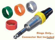 "(10 Pack)  Neutrik PCR-8  Grey Colored ID Rings for C Series 1/4""  Connectors"
