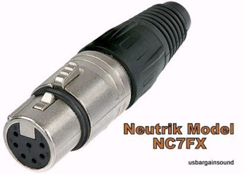 Neutrik NC7FX  XLR 7-Pin Female Cable Connector Nickel Housing w/Silver Contacts