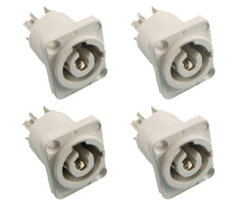 (4) ProCraft PC-TSC045 Panel Mount Power Out Connector - Neutrik Powercon Style