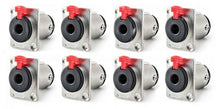 "8 New PROCRAFT PC-TJ084 1/4"" 6.35 mm TRS Panel Mount Locking Speaker Jack, Silver"