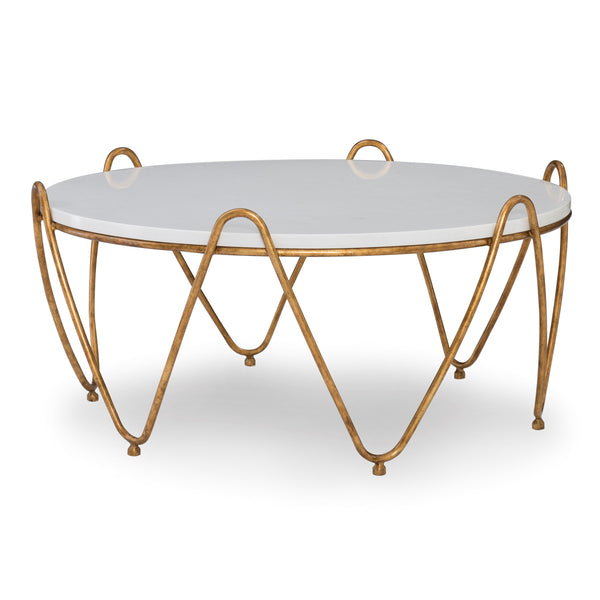 Rippled Regency Cocktail Table