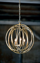 Ofelia Chandelier Medium (Gold Leaf)