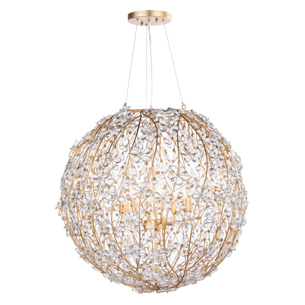 Cheshire Chandelier Large (Gold Leaf)