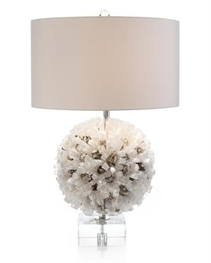 Selenite And Mica Table Lamp