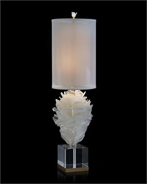 Windowpane Selenite Bloom Table Lamp