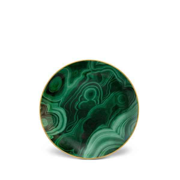 Malachite Canape Plates (Set of 4)