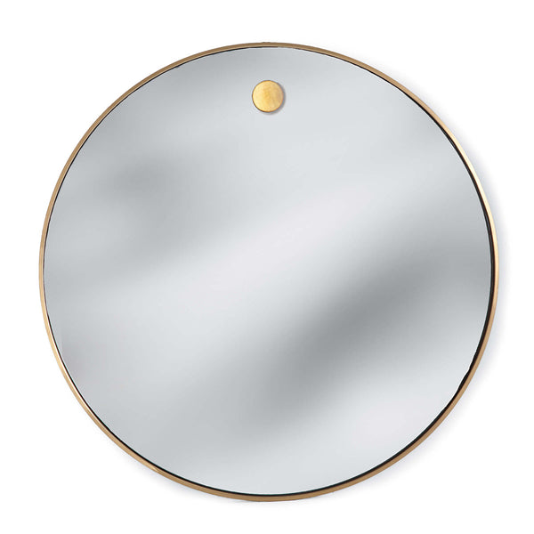 Hanging Circular Mirror (Natural Brass)