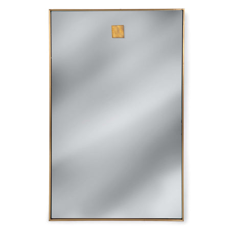 Hanging Rectangle Mirror (Natural Brass)