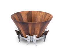 Butterfly Wood Tall Salad Bowl