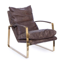 Austin Lounge Chair (Polished Brass)