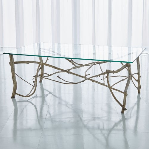 Twig Cocktail Table-Silver Leaf