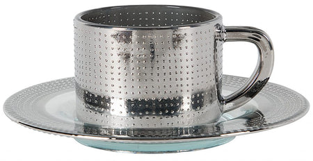 Silver Cup & Saucer
