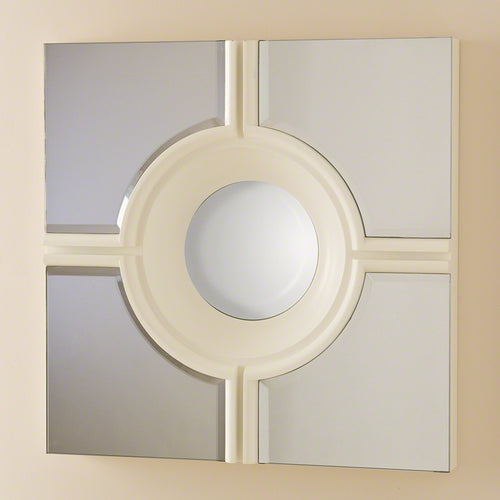 Bull's Eye Cross Mirror-White